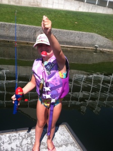 This girl can fish- she caught three in a row!