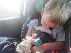 A nap with a ring pop- that is vacation!